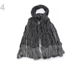 Pánská šála mačkaná 94x194 cm černá 10 ks 360f206e35