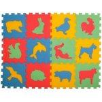 Malý Génius puzzle koberec Zvířátka 12ks