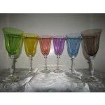LsG-Crystal Skleničky na bílé víno barevné optické sklo dárkové balení satén BS-622 6 Ks 250 ml