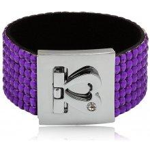 Shine bižuterní třpytivý barevný náramek fialový TN009