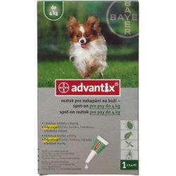 Antiparazitika BAYER Advantix Spot on pro psy do 4kg 1x0,4ml