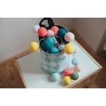 Cotton Ball Lights, kolekce Dots & Rainbow Colors