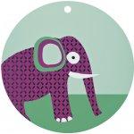 LÄSSIG silikonová podložka SILICONE PLACEMAT WILDLIFE Elephant