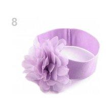 Dětská elastická čelenka s květem fialková