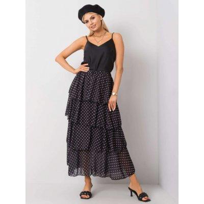 Volánová sukně s puntíky tw-sd-bi-0725.99 black