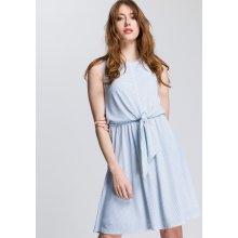 3894cb2f12 Tommy Hilfiger zavinovací šaty Barbara Knot kostková bílá tmavě modrá  tyrkysová