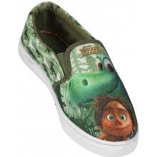 Disney Brand Chlapecké nazouvací tenisky Hodný Dinosaurus zelené
