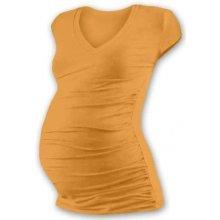 Vanda těhotenské tričko s V výstřihem mini rukáv sv. oranžová