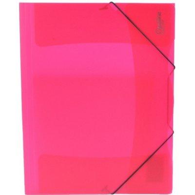 Karton P+P s gumou A4 Opaline červená 2-598