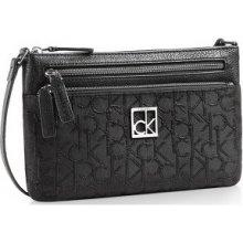 Calvin Klein Elegantní crossbody kabelka Haley Lurex Logo Triple Compartment Crossbody 36205229 Black