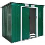 TecTake 402183 Zahradní domek střecha pultová zelená ocelový plech