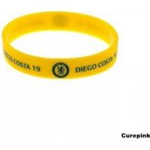 Náramek silikonový Chelsea FC Diego Costa žlutý 320769 CurePink