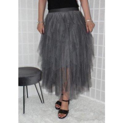 Tylová sukně hnědá Vionnetta