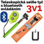 Neven Monopod - teleskopický držiak na selfie + Bluetooth spoušť fotoaparátu Z07-1 zelena