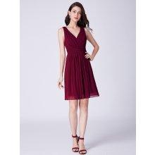 Ever Pretty letní šaty krátké 3025 bordo 0005758b73