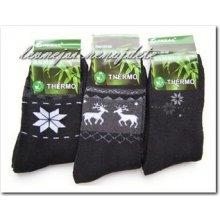 Pesail dámské bambusové termo ponožky se vzorem černé