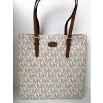 Michael Kors Jet Set Travel Large NS Tote Bag Signature Logo vanilla