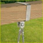 Houpačkové uchycení objímka na hranol 90 x 90 mm KAXL