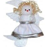 Wiky Dekorace vánoční - anděl stříbrný zlatovlasý