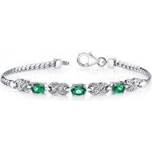 Eppi Stylový smaragdový náramek ze stříbra Tejaswi BR31091