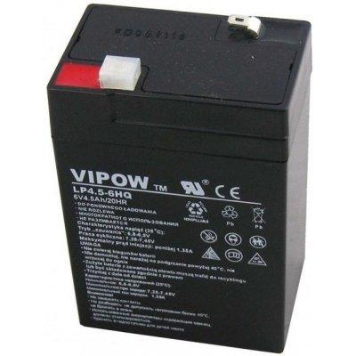 VIPOW Baterie olověná 6V / 4.5Ah bezúdržbový akumulátor (4,2Ah)
