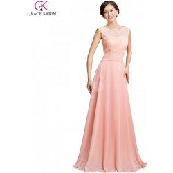 Grace Karin společenské šaty s krajkovým živůtkem CL7537 Růžová ... 66fab43ae3