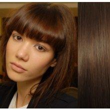 Clip in ofina – REMY 100% lidské vlasy – STŘEDNĚ HNĚDÁ