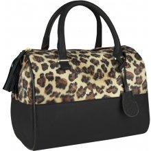 Elegantní kabelka se zvířecím vzorem FB06B černá