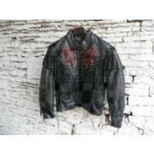 Chopper Kožená bunda dámská černá červené růže