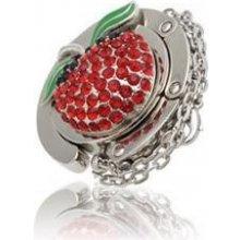 Háček na kabelku - Jablko 3D - červené