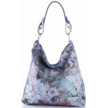 VITTORIA GOTTI Made In Italy kožená kabelka multicolor modrá 0df6e4b0c5