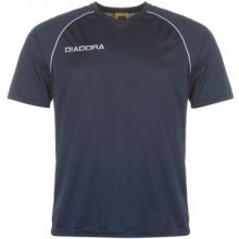 Diadora Madrid T Shirt Mens Dark Blue/White