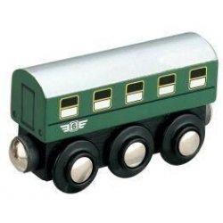 osobní vagón zelený