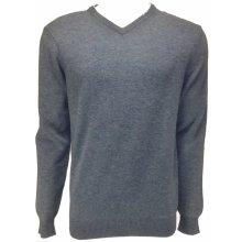 FLOREAL pánský svetr šedomodrý