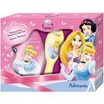 EP Line Disney Princezny V sprchový gel 250 ml + hřeben dárková sada