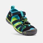 Keen Chlapecké sandály Seacamp II CNX black/blue danube