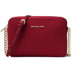 Michael Kors Jet Set Saffiano Leather crossbody tmavě červená ... ccf050052ad