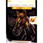 Škrábací obrázky 25 x 20 cm Kůň