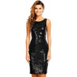 Mayaadi společenské šaty flitrové bez rukávu černá dámské šaty ... 7db4a2ac11c