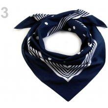 b27bec723c2 Bavlněný šátek s puntíky Etex 70x70 cm modrá pařížská