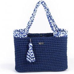 Justin Design háčkovaná kabelka Justýna tmavě modrá námořnická od 2 ... 68106a1f5b0