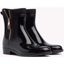 89c44f8634e TOMMY HILFIGER holínky Material Mix Rain Boot černé