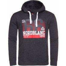 Nordblanc NBFMS5943 TREAT crystal pánská mikina černá s kapucí