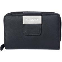 Prostorná kožená peněženka Kabana černá