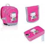 Topgal Školní batoh Chi 651 H pink + penál CHI 682 H + kapsička CHI 661 H