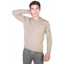 Trussardi Pánský svetr s kulatým výstřihem hnědá