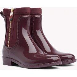 Dámská obuv TOMMY HILFIGER vínové holínky Material Mix Rain Boot b5f3f5c7b2