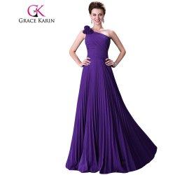 7f18a8d328a Grace Karin Fialové společenské šaty s plisovanou sukní CL3467-4 Fialová