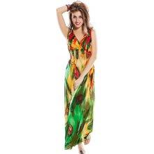 4f3fe2419412 LM moda letní šaty dlouhé paví vzor 6436