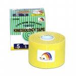 Tejpovací páska TEMTEX Kinesio Tape Classic 5 cm × 5 m žlutá